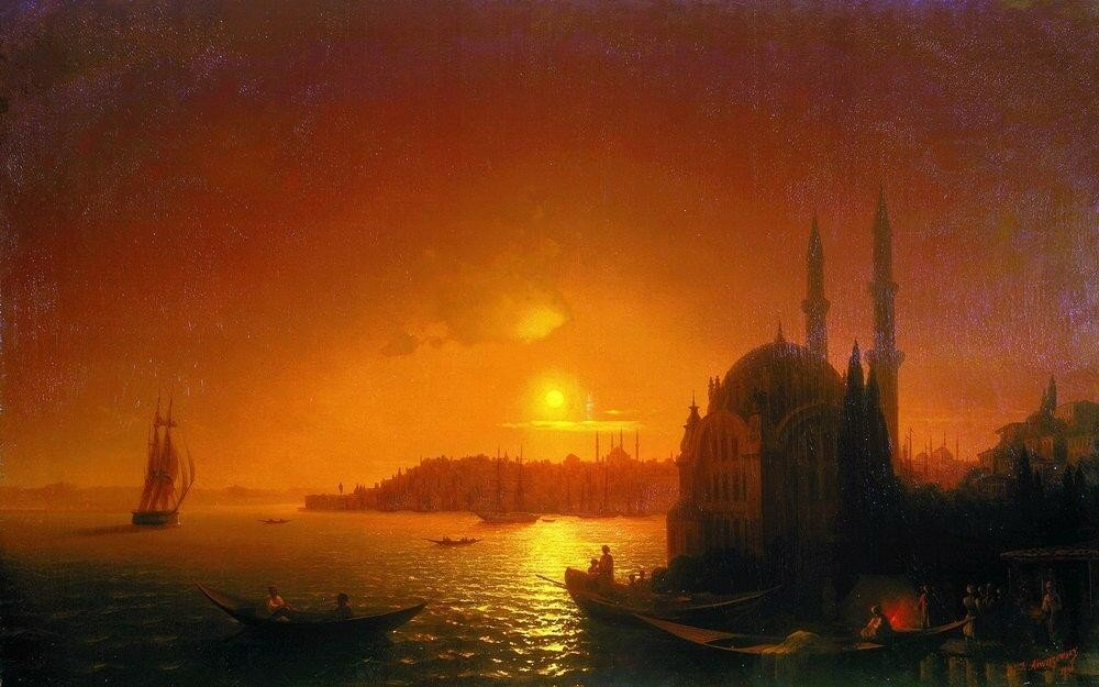 Вид Константинополя при лунном освещении. 1846.jpg