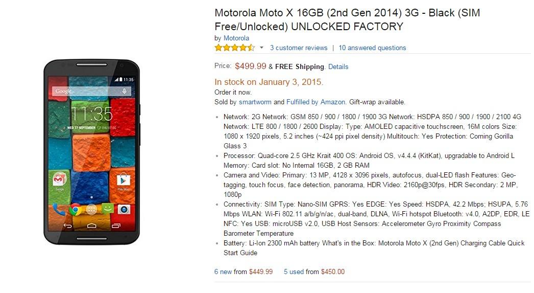 Motorola Moto X ( 2014 )
