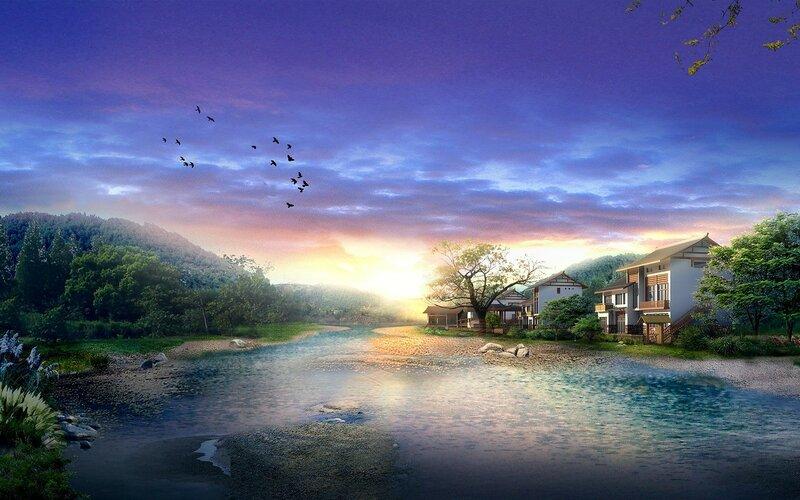 Красивые китайские пейзажи. Фотографии природы Китая, похожей на картины 0 1c4d42 550252d2 XL