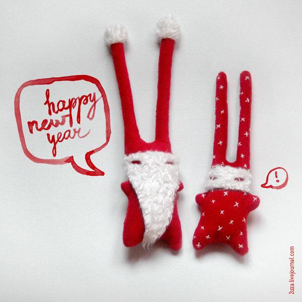 2uxa зайцы новогодние