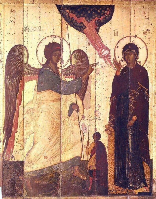 Благовещение Пресвятой Богородицы. Икона. Новгород, вторая половина XIV века.