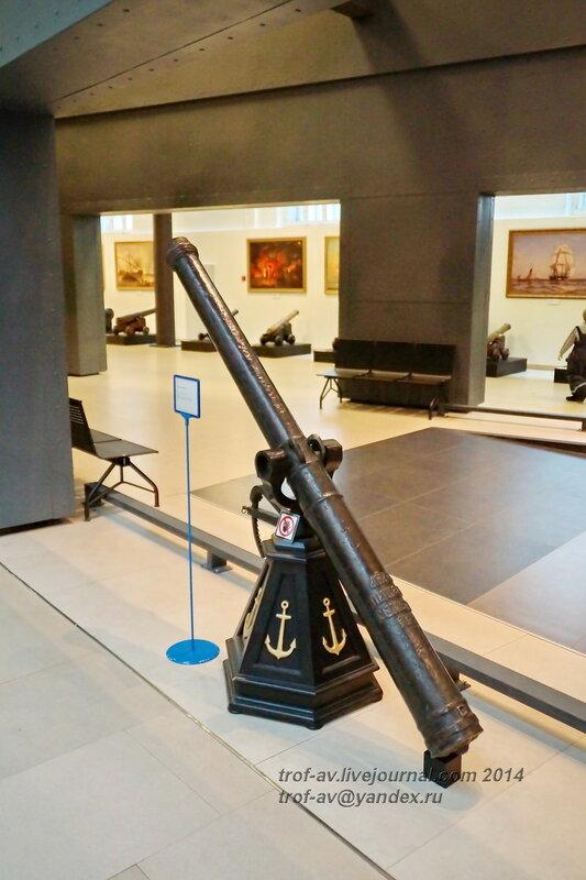 Пищаль калибра 63 мм, 1618 г., отлита Семеном Чуркиным (использовалась до 1884 г.) Центральный военно-морской музей, Санкт-Петербург
