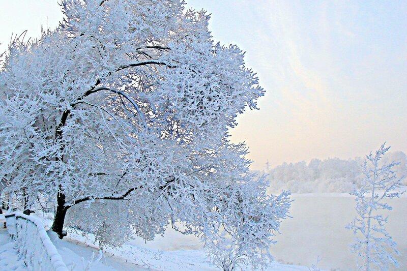 Зима.  Обработка фото