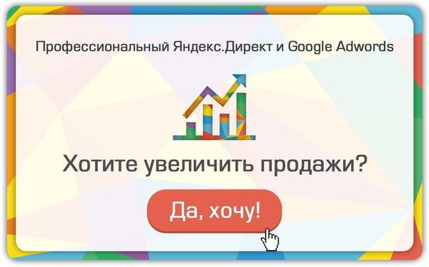 Платные услуги по контекстной рекламе Adwords и Директ