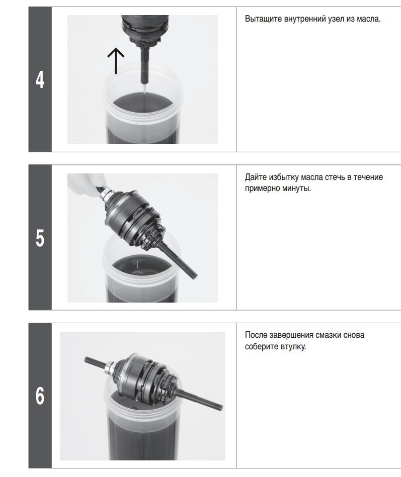 Техническое обслуживание планетарной втулки Shimano Nexus Inter 3 (SG-3C41), официальная информация от производителя