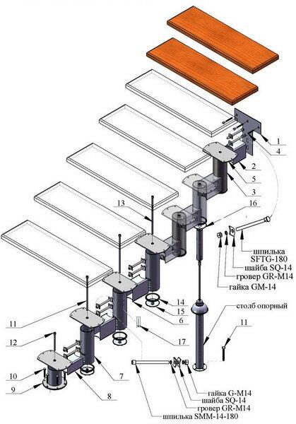 Лестница на металлическом каркасе своими руками пошаговая инструкция
