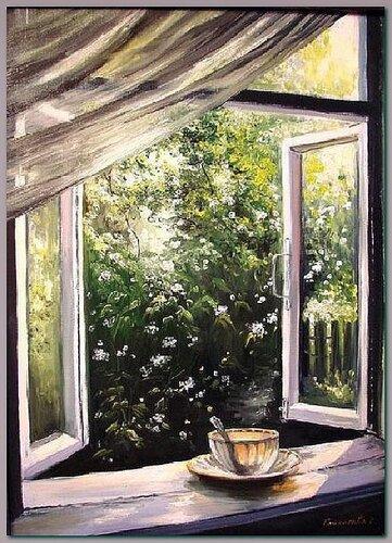 Светлана Грохотова       Окно с видом на сад.