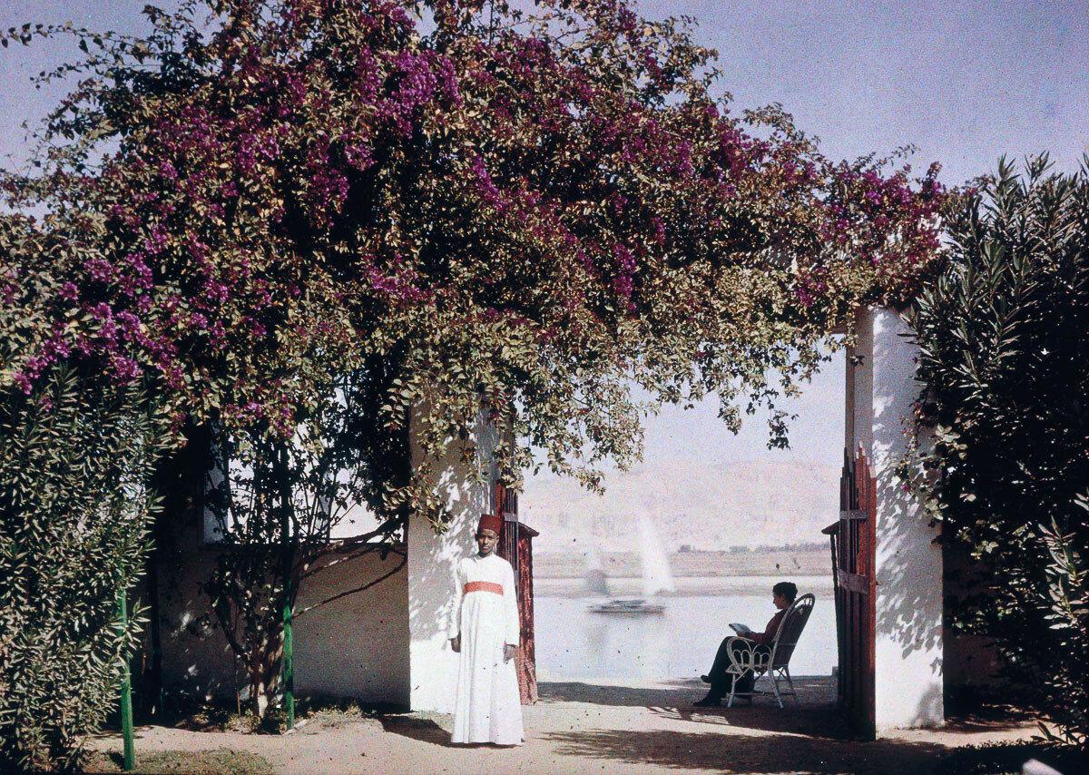 1913. Эльза читает на берегу Нила в Луксоре