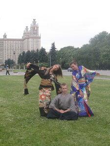 В кимоно по Москве