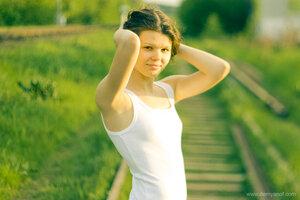 При девушка, портрет, Оля, Заскокина