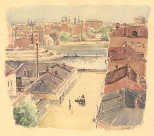 Телишевский Москва. Зачатьевский переулок (1948)