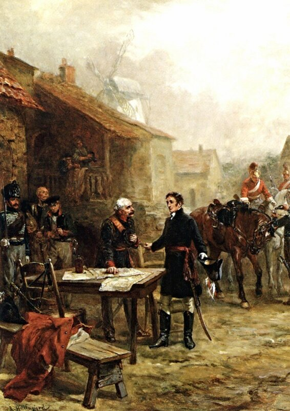 РОберт Александр Hillingford_Wellington_and_Blucher_Meeting_Before_the_Battle_of_Waterloo.jpg