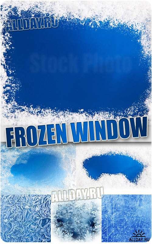 Замёрзшее окно - Растровый клипарт