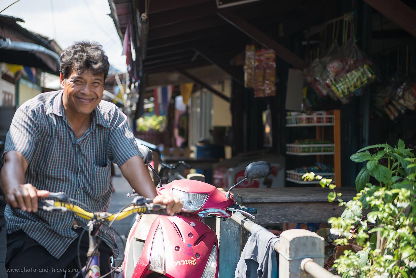 Фото 21. Не резкий, но позитивный человек. Интересные места Таиланда. Рыбацкая деревня около города Чумпхон (320, 70, 2.8, 1/500)