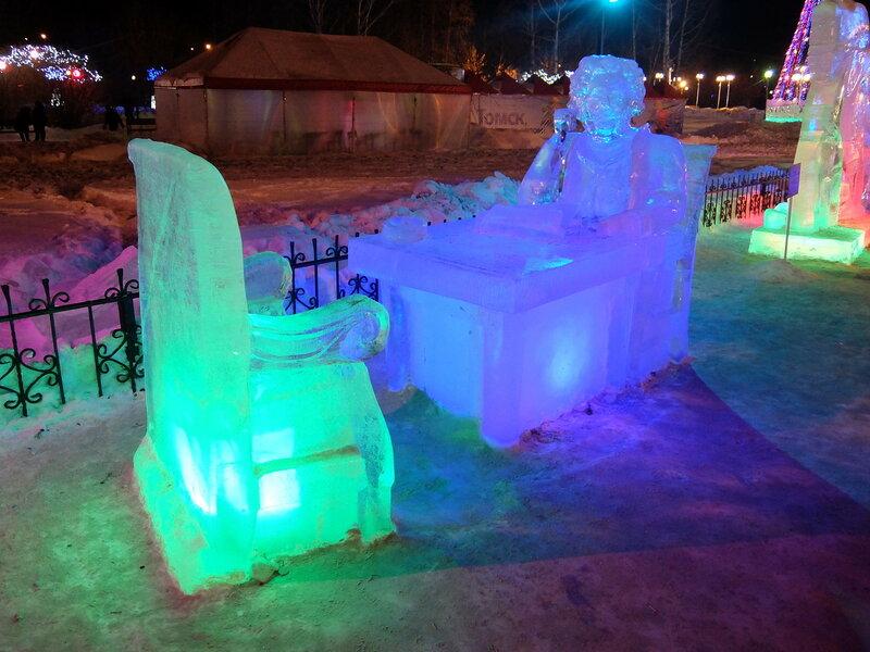 Томск - Ледяные скульптуры - Пушкин