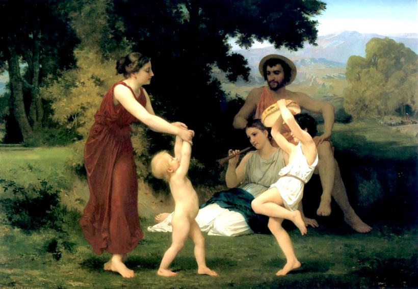 William-Adolphe Bouguereau The Pastoral Recreation, 1868