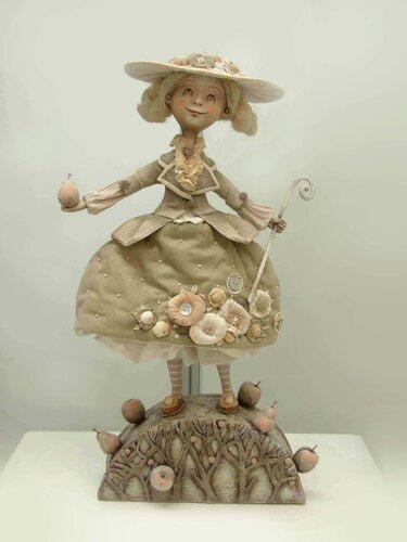 In the Garden – art doll by Anna Zueva