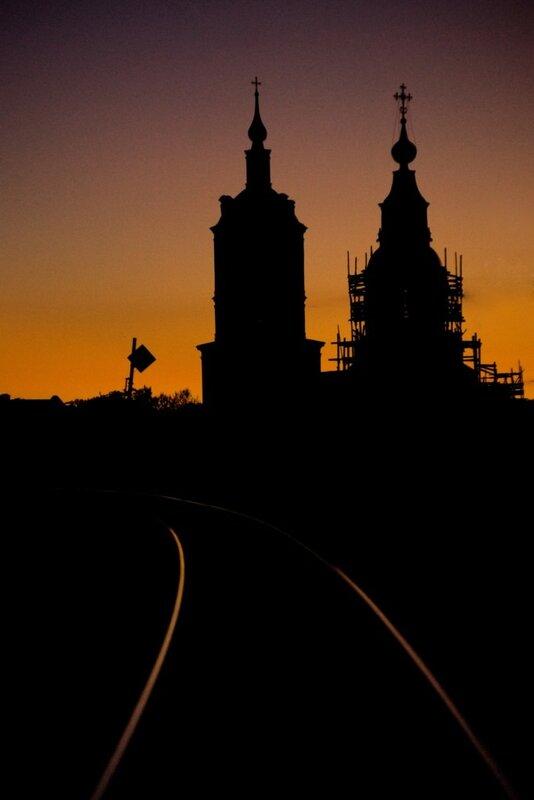храм на закате. фотограф Кирилл Кузьмин