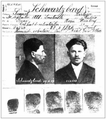 Из личного дела Шварцбарда в тюрьме La Santé (1926)