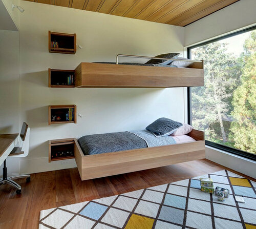 Двухъярусные кровати - оригинальные идеи