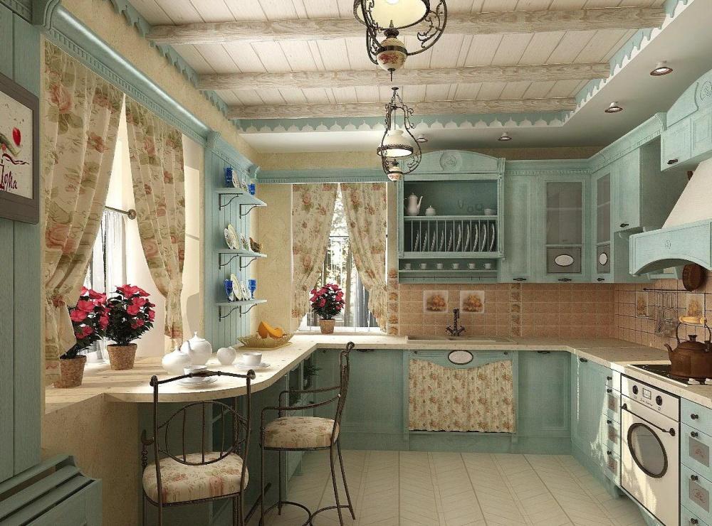 Уютная кухня встиле кантри