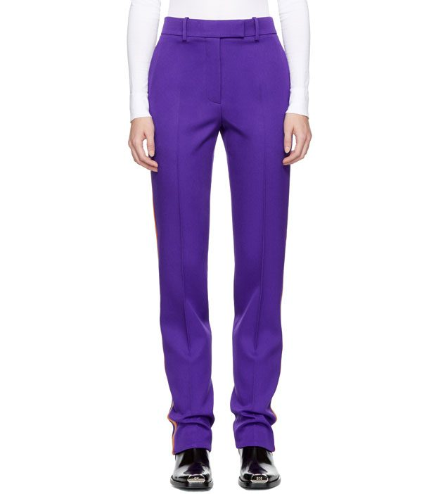 Calvin Klein 205W39NYC  Purple Marching Band Trousers