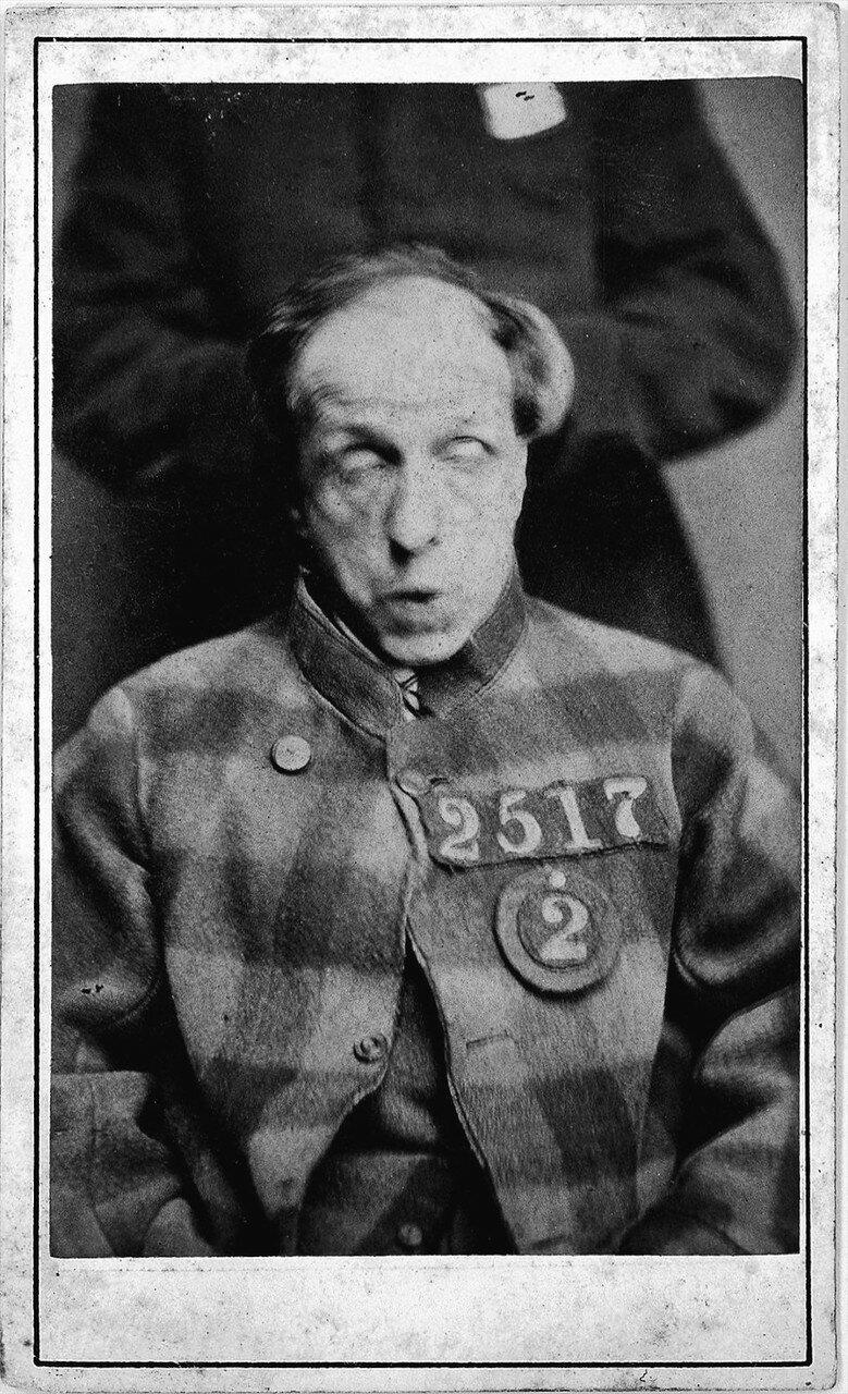 Заключенный, приговоренный к содержанию в психиатрической больнице. 1869