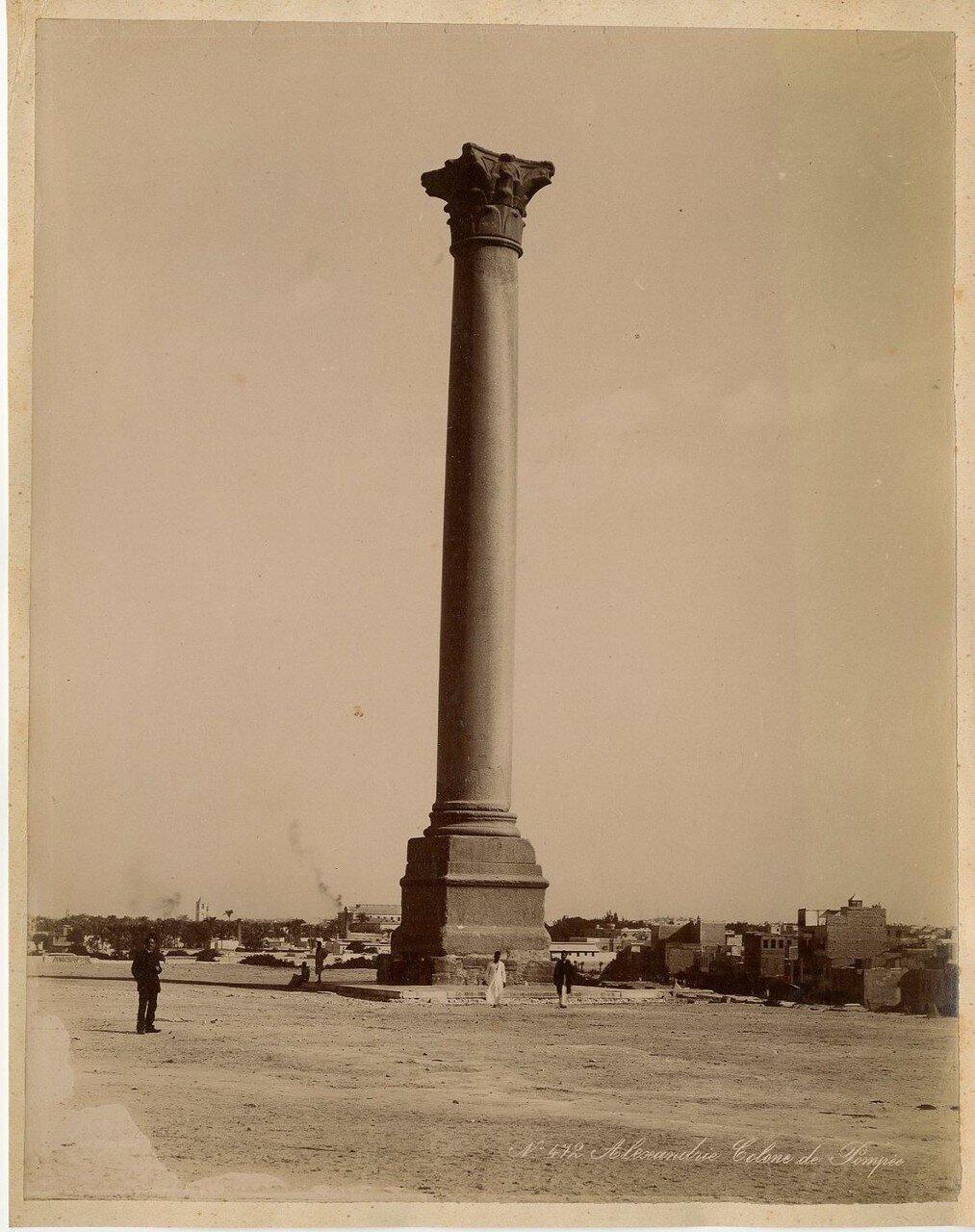 Александрия. Колонна Помпея. 1889