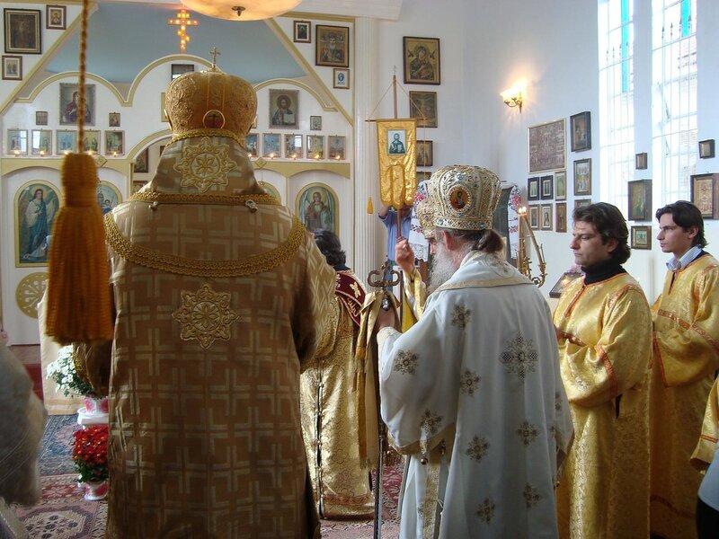 Вышивка на облачении епископа Амвросия