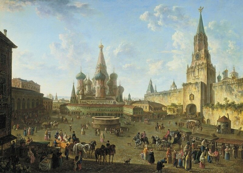 Алексеев Федор Яковлевич. Красная площадь в Москве. 1801..