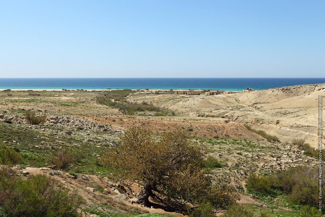 каньон Саура выходит к Каспийскому морю