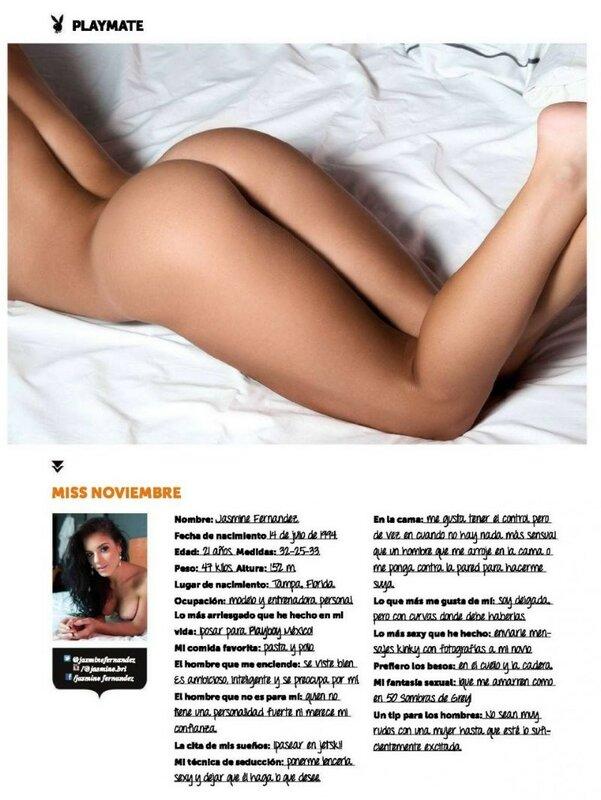 Miss November 2015 Mexico Jasmine Fernandez in Playboy