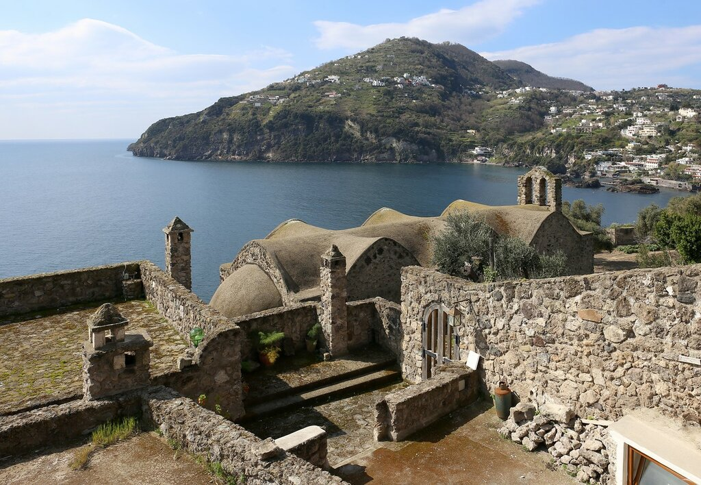 Ischia, the Aragonese castle. The Church of the Madonna Libera (Chiesa della Madonna della Libera)