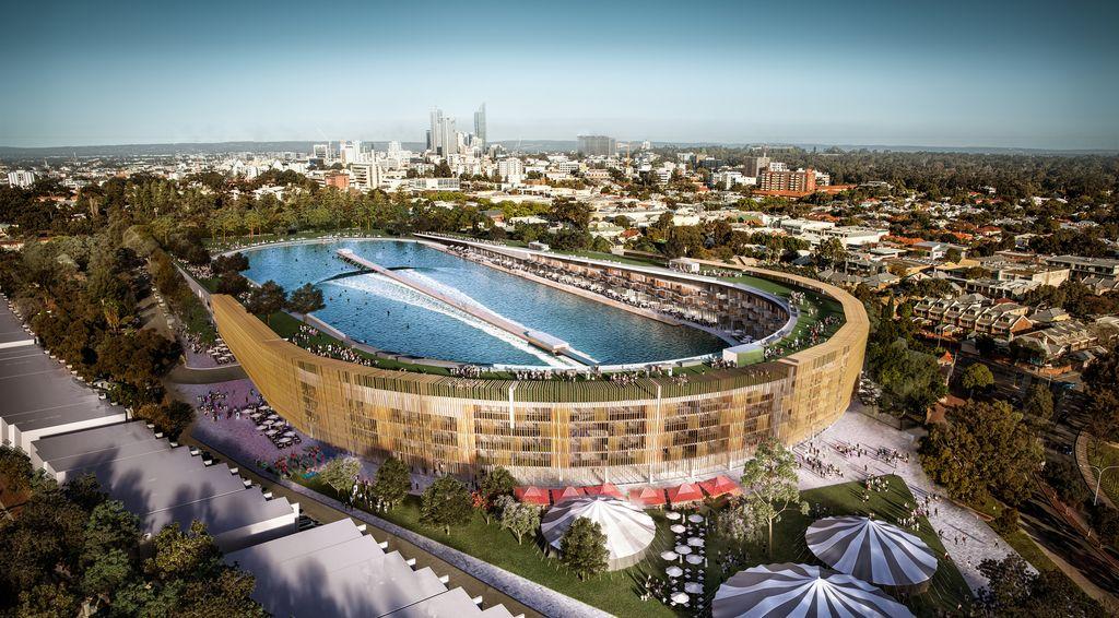 5. В Австралии перестроят футбольный стадион в многофункциональный комплекс с бассейном, квартирами