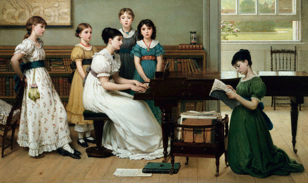 <Home, Sweet Home> by George Dunlop Leslie