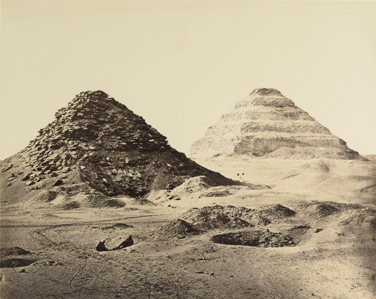 Саккара. Пирамиды с юго-востока. 1858