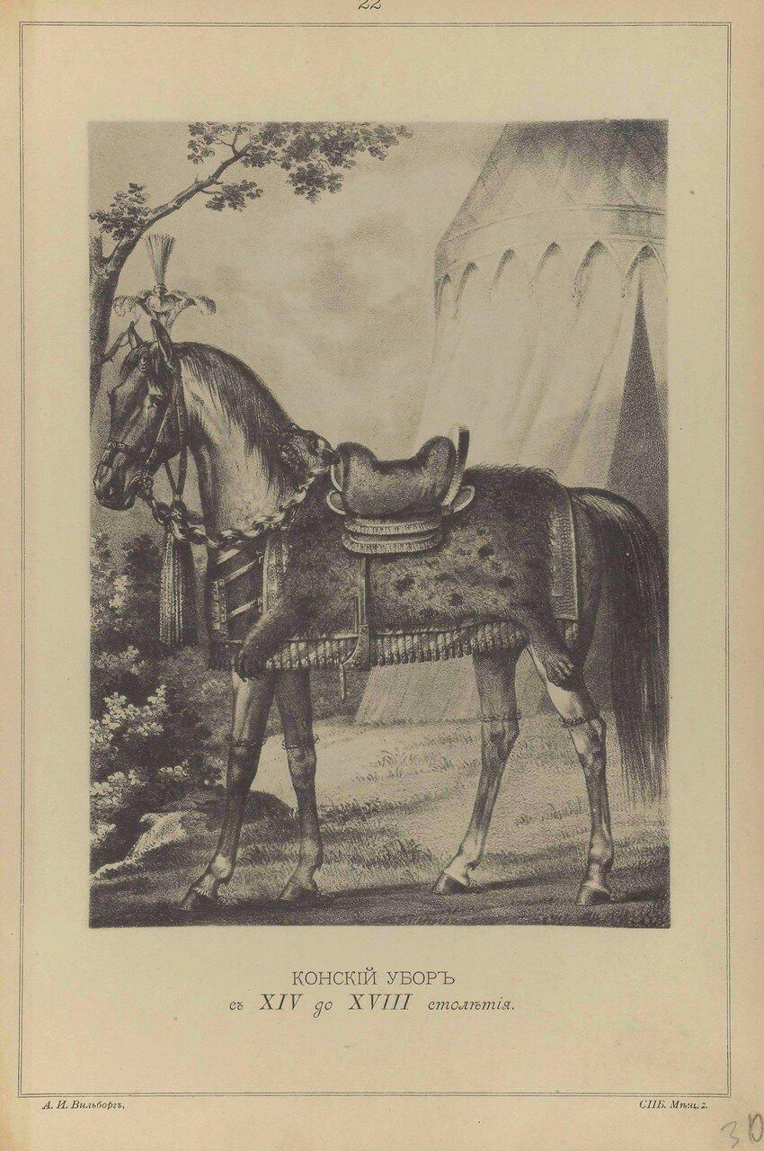 22. Конский убор с XIV по XVIII столетия