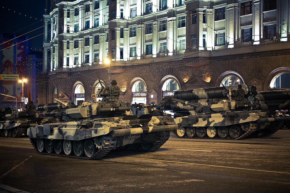 Репетиция военного парада 2009. 28 апреля