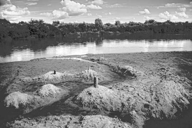 фотография грода из песка