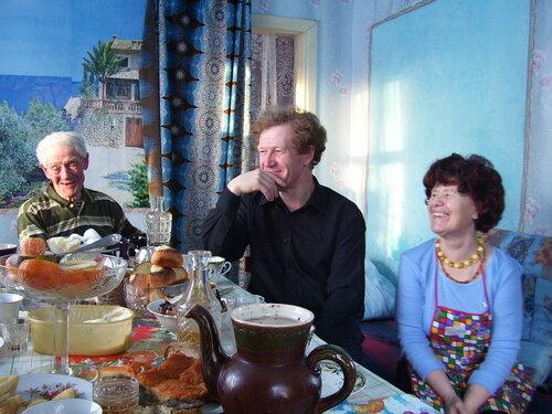 Папа, братик Олег, Мама