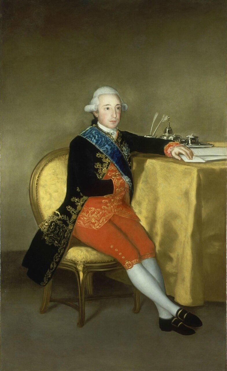 Count of Altamira. 1786-87. Oil on canvas, 177 x 108 cm.