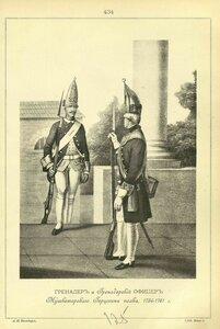 434. ГРЕНАДЕР и Гренадерский ОФИЦЕР Мушкетерского Герцогини полка, 1756-1761 г.