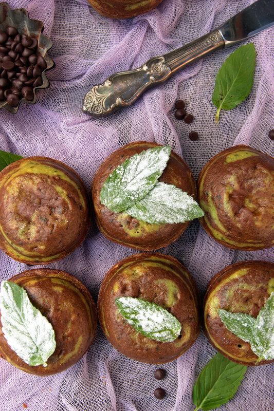 Шоколадно-мятные кексы