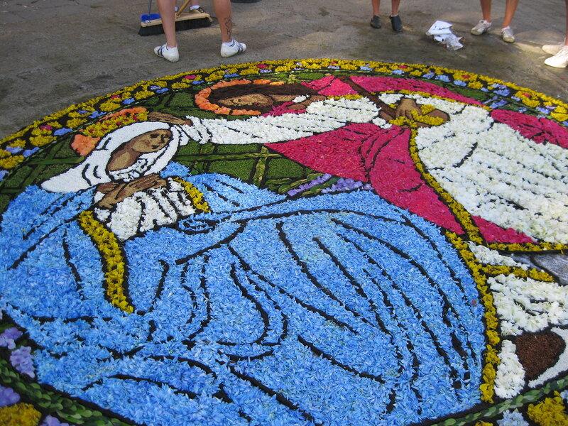 """""""Ковер - икона"""" у церкви Святого Спасителя."""