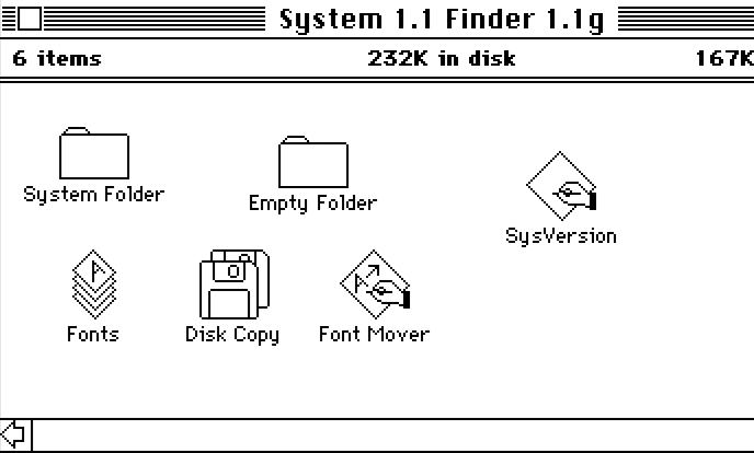 Файловый менеджер в системе Mac OS 1.1 (Finder)