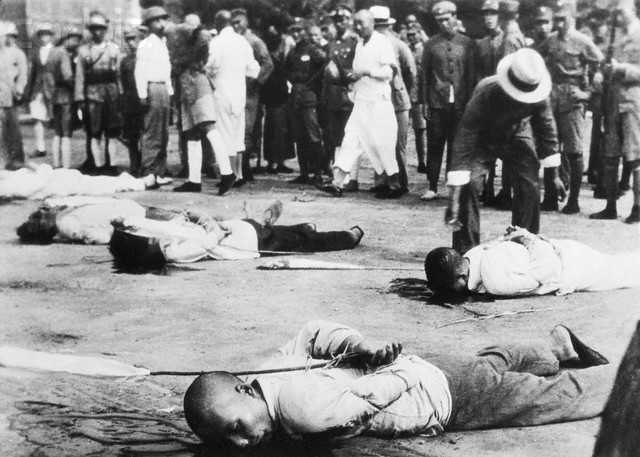 Bodies of Executed Chinese Traitors