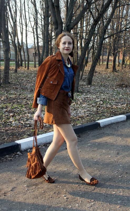 куртка - bershka, юбка - pull&bear, сумка - h&m