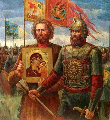 КАЗАНСКАЯ ИКОНА БОЖИЕЙ МАТЕРИ, Кузьма Минин и князь Дмитрий Пожарский