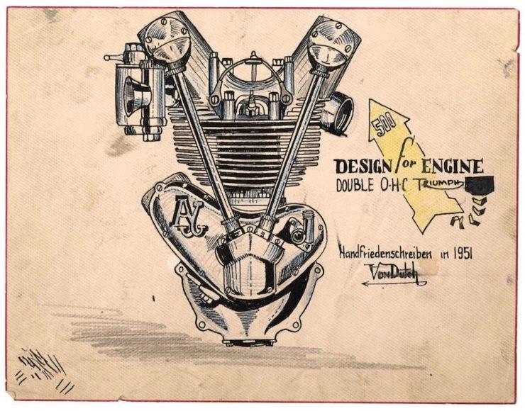 Рисунки двигателей Кенни Говарда ака Von Dutch