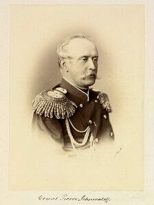 Граф Петр Андреевич Шувалов (1827-1889), генерал-адъютант, генерал от кавалерии, член Государственного Совета, бывший чрезвычайный и полномочный посол при Великобританском дворе, а потом представитель России на Берлинском конгрессе. 1873